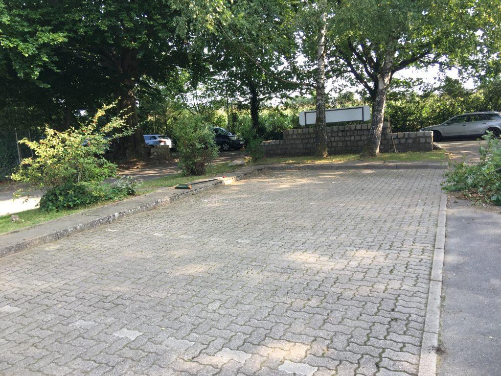 Parkplatz wieder sauber